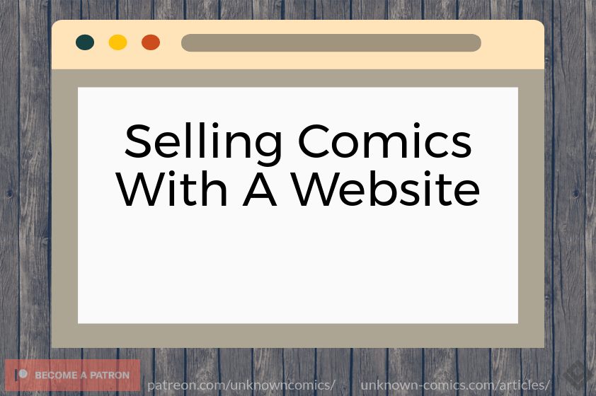 Selling Comics With A Website Article Poster
