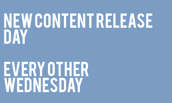If You Can't See This Image Then I Just Want You To Know That There Has Been A Change in Our Content Release Day. New Articles Will Now Be Released On Every Other Wednesday Instead Of Thursday.