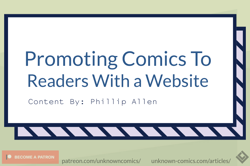 Promoting Comics to Readers With a Website Article Poster