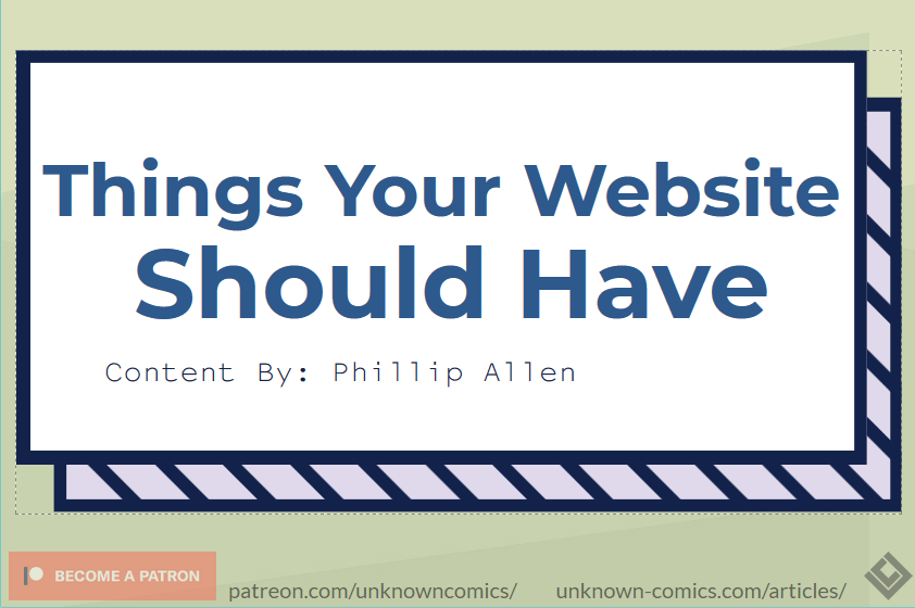 Things Your Website Should Have Article Poster