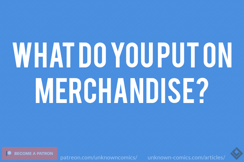 What Do You Put On Merchandise? - Article Poster
